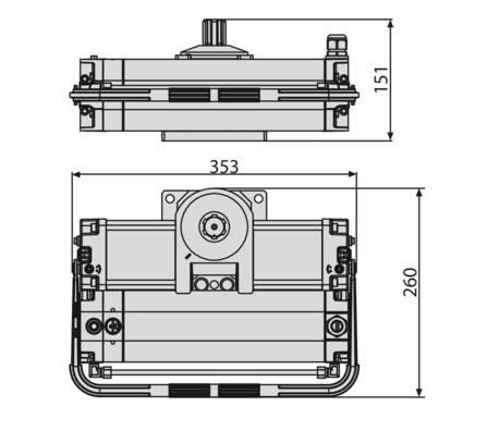 Hình mặt cắt motor Sub BT
