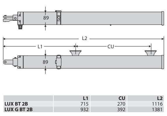 Mặt cắt cổng mở LUX BT