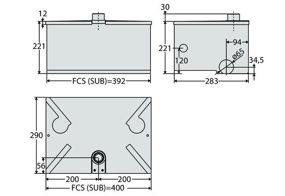 Mặt cắt motor cổng âm sàn SUB