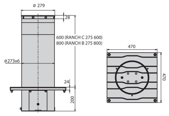 Cột chắn xe RANCH C-003
