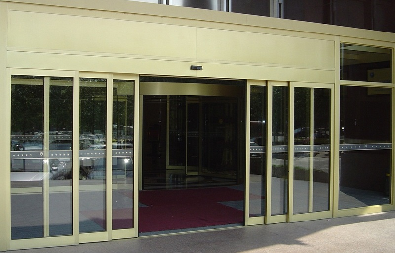 Telescopic automatic sliding door