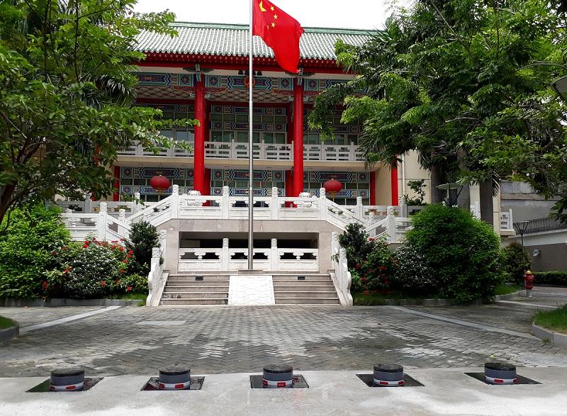 Hoàn thành Cột chắn xe cho ĐSQ Trung Quốc