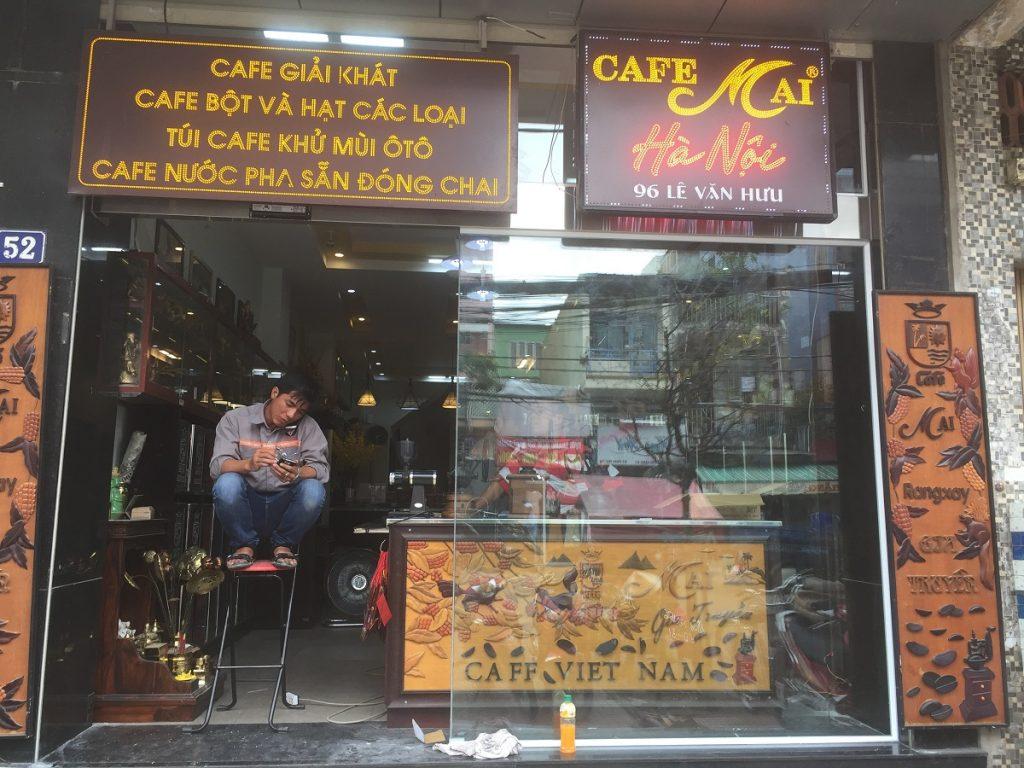 Cửa tự động quán cafe MAI 1113