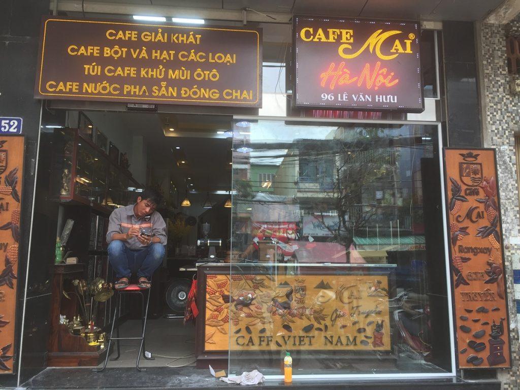 Cửa tự động quán cafe MAI 1114
